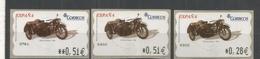 ESPAÑA ATM MOTO MOTORCYCLE DKW CON SIDECAR 3 VARIETIES - Motorfietsen