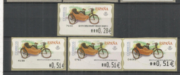 ESPAÑA ATM MOTO MOTORCYCLE MOBYLETTE CON SIDECAR 4 VARIETIES - Motorfietsen