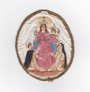 SANTINO - IN STOFFA  DI MADRE REGINA - FATTO A MANO - Images Religieuses