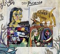 TOGO 2012 SHEET PABLO PICASSO ART PAINTINGS ARTE PINTURAS Tg12115a - Togo (1960-...)