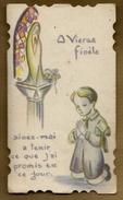 Image Pieuse Holy Card Ciselée & Enfantine Communion Yves ?? Eglise De Paimpont  1-06-1938 - Ed M Lille - Images Religieuses