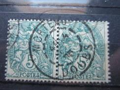 """VEND BEAU TIMBRE DE FRANCE N° 111 EN PAIRE , CACHET """" MORTEAU """" !!!! - 1900-29 Blanc"""