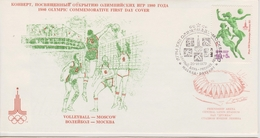 FDC UNION SOVIETIQUE 1979  JEUX OLYMPIQUES DE MOSCOU 1980 VOLLEYBALL - Sommer 1980: Moskau
