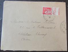 Enveloppe Avec Timbre Type Liberté N°283 Type II + Bande Publicitaire + Cachet 1934 - 1921-1960: Période Moderne