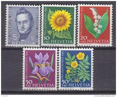 SCHWEIZ  742-746 Postfrisch **, Pro Juventute 1961, Wiesen- Und Gartenblumen