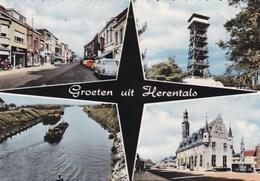 HERENTALS - ANTWERPEN - ANVERS  - BELGIE - BELGIQUE - PEU COURANTE CPSM MUTIVUES DENTELÉE DES ANNÉES 1950/1960. - Herentals