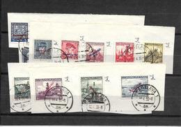 SLOVAQUIE N° 1 à 21, Oblitérés Sur Fragment + 18a - Used Stamps