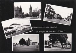 LEOPOLDSBURG - BOURG-LEOPOLD - LIMBOURG  - BELGIE - BELGIQUE -  CPSM MULTIVUES DENTELÉE DES ANNÉES 1950/1960. - Leopoldsburg