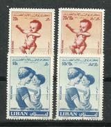 Líbano_1960_Jornada De La Madre Y Del Niño. Correo Aéreo - Líbano