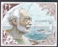 Tonga Niuafo´ou 1990 Marine Life Wale Whales Sheet - Timbres