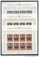 LIECHTENSTEIN  881-883, Kleinbogensatz, Postfrisch **, 1985, Gemälde Aus Den Fürstlichen Sammlungen
