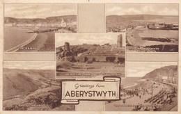 ABERYSTWYTH - WALES - UNITED KINGDOM -  MULTI VIEWS-POSTCARD. - Wales