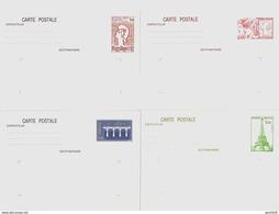France Entier Postal Lot De 4 Entiers Postaux Différents Europa, Philexfrance, Philex-jeunes, Tour Eiffel Neuf Départ PP - Entiers Postaux