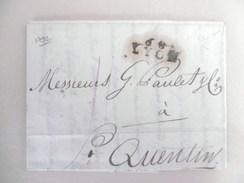 Lettre De Lyon Vers St Quentin De 1792 - Marcophilie (Lettres)