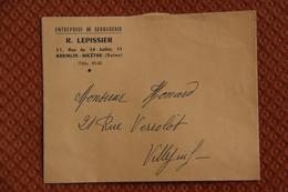 Enveloppe Publicitaire , KREMLIN BICETRE, R.LEPISSIER, Entreprise De Serrurerie - Artigianato