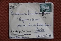 Enveloppe Timbrée,d'ARGENTINE à FRANCE ( Poste Aérienne) - Argentina