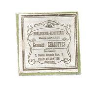 G-I-E, Boite , Horlogerie , Bijouterie Georges CHAZOTTES , Chateau Gontier  , Maison Petit , Paris, Frais Fr 1.55€ - Scatole
