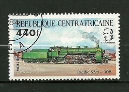 """Rép.Centrafricaine  1984  N° 623  """" Locomotive  Pacifique S3/6  1908 """"   Neuf/Tamponné - Centrafricaine (République)"""