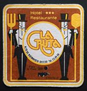 POSAVASOS HOTEL RESTAURANTE LA GRUTA - OVIEDO. - Sous-bocks