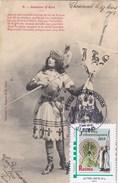 Carte Jeanne D'Arc De Chaumont à Bar Sur Aube De 1903 + Timbre Perso De 2015 - France