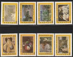 1984 Panama Art Paintings Complete  Set Of 8 MNH - Panama