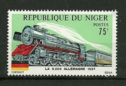 """Rép. Du Niger   1975   N° 317  """" Locomotive La 5003 Allemagne 1937 """"        NEUF - Niger (1960-...)"""