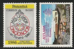 1986 Panama Miss Universe Complete  Set Of 2 MNH - Panama