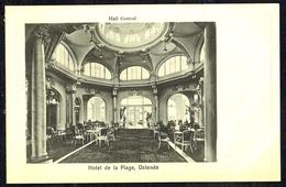 OOSTENDE / OSTENDE - Hôtel De La Plage - Hall Central - Circulé - Circulated - Gelaufen - 1913. - Oostende