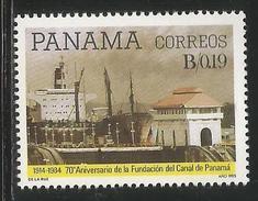 1985 Panama Canal Anniversary Ships Complete  Set Of 1 MNH - Panama