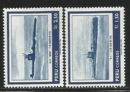 1986 Peru Navy Submarines Complete  Set Of 2 MNH - Peru