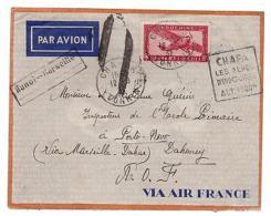 1937 Chapa  Tonkin Vietnam  Airmail Cover To Dahomey AOF - Vietnam