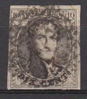BELGIE  1851  Michel    3B Typ X  Dun Papier   OBP  6     Used/VF   [897  ]
