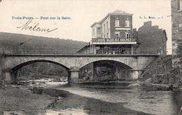 """BELGIQUE TROIS-PONTS PONT DU SALM """"GRAND BAZAR DES ARDENNES' (CARTE PRECURSEUR) - Trois-Ponts"""
