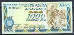 461-Rwanda Billet De 1000 Francs 1988 D958 Neuf - Rwanda
