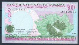 484-Rwanda Billet De 500 Francs 1998 AC015 Neuf - Rwanda