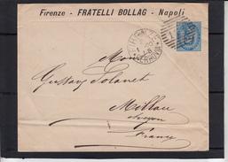 Lettre  De FIRENZE  FERROVIA Le 21 1 1890  Pour MILLAU Aveyron - Poststempel