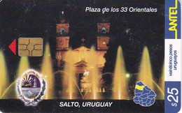 Nº 241 TARJETA DE URUGUAY DE LA PLAZA DE LOS 33 ORIENTALES EN SALTO - Uruguay