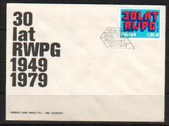 POLAND FDC 1979 30th ANNIVERSARY RWPG Rada Wzajemnej Pomocy Gospodarczej COMECON Council For Mutual Economic Assistance