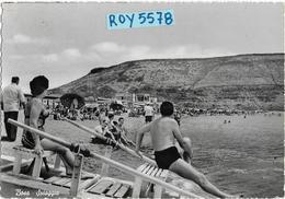 Sardegna-oristano-bosa Marina Veduta Spiaggia Anni 50 Bella E Animatissima - Altre Città