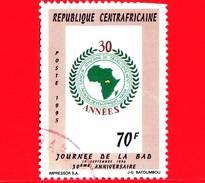 REPUBBLICA CENTROAFRICANA - Usato - 1995 - 30 Anni Della Banca Africana Di Sviluppo - Giornata Della  BAD - 70 - Repubblica Centroafricana