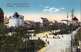 Ukraine, Lwow - Lemberg, Ulica Karola Ludwika, K.u.K. Censur 1915 - Ucraina