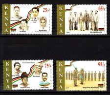 2008 Kenya Heroes Independence Army Peacekeeping Complete Set Of 4 MNH - Kenia (1963-...)