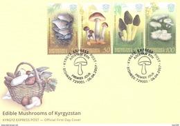 2017. Kyrgyzstan, Edible Mushrooms Of Kyrgyzstan, FDC, Mint/** - Kyrgyzstan