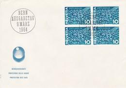FDC 1964 Gewässerschutz. Mi: 792 4er Block - FDC