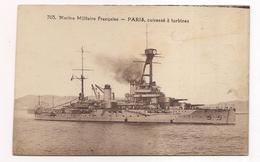 Marine Militaire Française  , Paris , Cuirassé à Turbines - Guerra