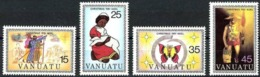 VANUATU 1981 Christmas, Lamb, Butterfly, Fauna MNH