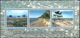 Estonia 2001 MNH ** Mi 416-418 Bl 16 Baltic Coastal Landscapes - Estonia