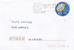 ENTIER POSTAL DEMAIN L'EURO 3.00F BLEU + CHAMPIONNAT DU MONDE DE FOOTBALL - Biglietto Postale