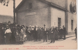 88 - GRANGES - FETE FEDERATION DES VETERANS - ARRIVEE EN GARE - Granges Sur Vologne