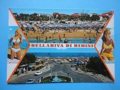 Bellariva - Rimini - Vedute - Pin Up - Spiaggia - Fontana - Auto - Rimini